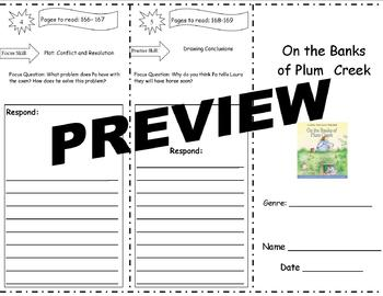 On the Banks of Plum Creek Storytown Comprehension Trifold
