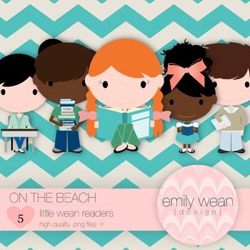 On the Beach - Little Readers Clip Art