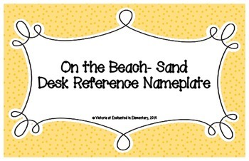 On the Beach Sand Desk Reference Nameplates