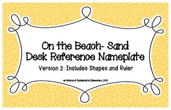 On the Beach Sand Desk Reference Nameplates Version 2