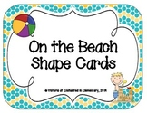 On the Beach Shape Cards