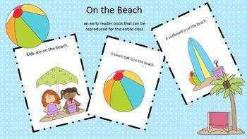 On the Beach (early reader reproducible book)