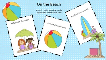 On the Beach (early reader reproducible book)