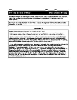 On the Brink of War Document Study