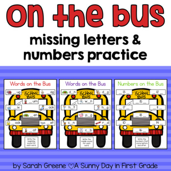 On the Bus {missing letters and numbers}