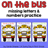 Missing Short Vowels and Numbers Practice