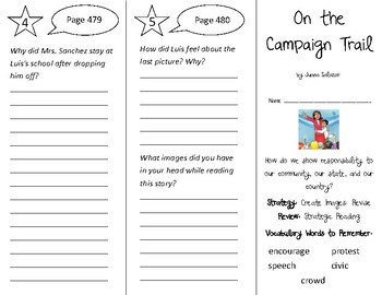 On the Campaign Trail Trifold - 3rd Gr Literacy by Design Theme 14
