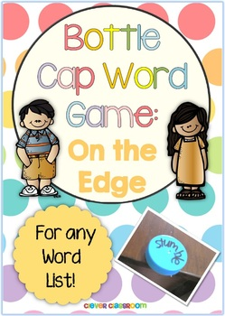 On the Edge Bottle Cap Center Game for any List