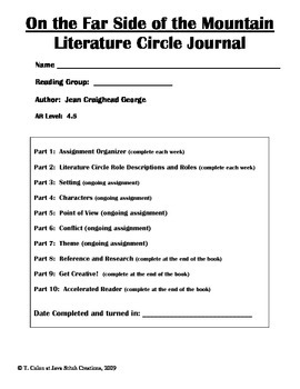 On the Far Side of the Mountain Literature Circle Journal Student Packet