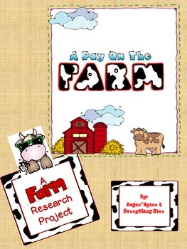 On the Farm~ A Research Project Bundle with Interactive Stories~ Matrix provided