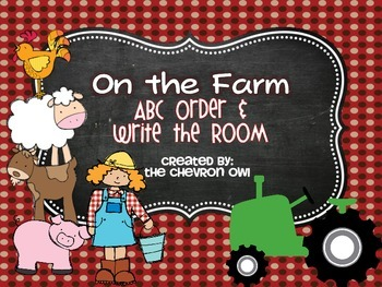 On the Farm ABC Order and Write the Room