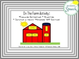 On the Farm Activity: Following Instructions, Requesting,