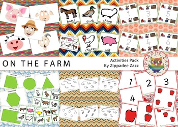 On the Farm Activity Resources Pack 130 Printables/Boardma