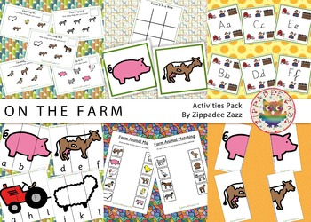 Worksheets for Farm Resources Pack Boardmaker SPED