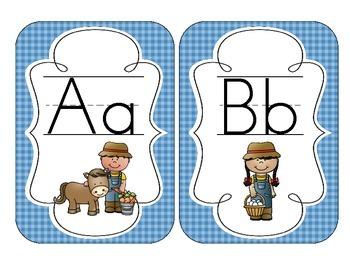 On the Farm Alphabet Cards