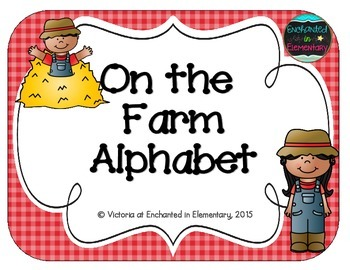 On the Farm Alphabet Cards
