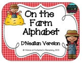 On the Farm Alphabet Cards: D'Nealian Set