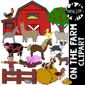 On the Farm: Animal Clipart