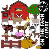On the Farm: Animal Clipart