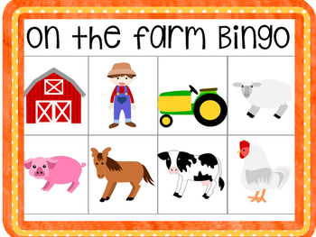 On the Farm- Bingo