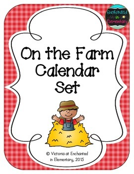 On the Farm Calendar Numbers, Months and Days