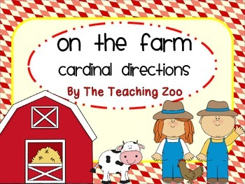 On the Farm Cardinal Directions Signs