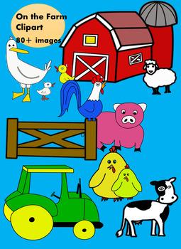 On the Farm Clip Art