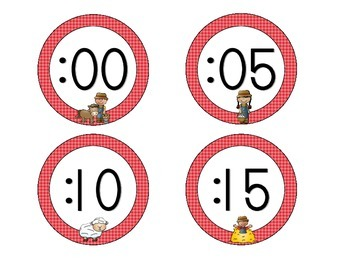 On the Farm Clock Numbers: Red Set