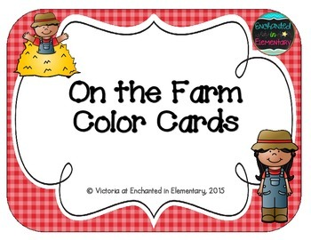 On the Farm Color Cards