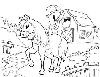 On the Farm Coloring Book - pig, barn, horse, cow, sheep by Energy ...