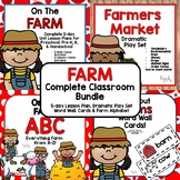 On the Farm Complete Classroom Bundle for Preschool, PreK, K & Homeschool