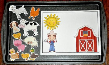 Farm Cookie Sheet Activities