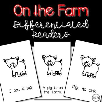 On the Farm {Differentiated Emergent Readers}