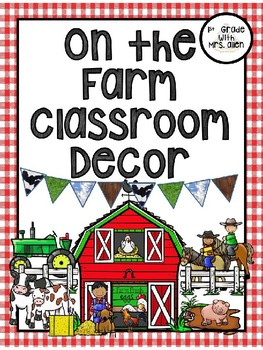 On the Farm Door Decor EDITABLE