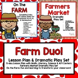 On the Farm Duo! Lesson plan & Dramatic Play Set for Preschool, PreK & K!