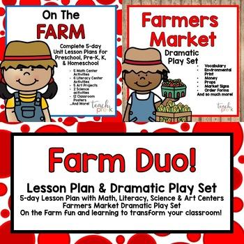 farm animals lesson plan math