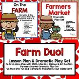 On the Farm Duo! Lesson plan & Dramatic Play Set for Preschool, PreK & K!