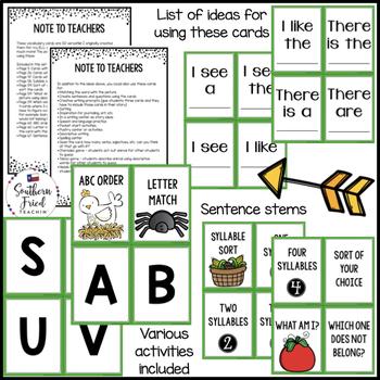 Farm Vocabulary Activities