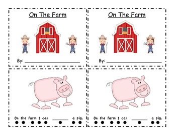 On the Farm- Emergent Reader Fry's First 100 Words