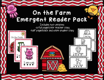 On the Farm Emergent Reader Pack