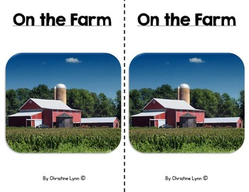 On the Farm Emergent Reader With Main Idea and Details Gra