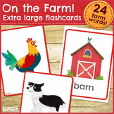 On the Farm Flashcards / Vocabulary cards / Picture Cards