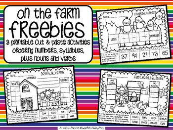 On the Farm FREEBIE (Skill Review Printables)