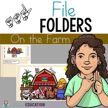 On the Farm File Folder