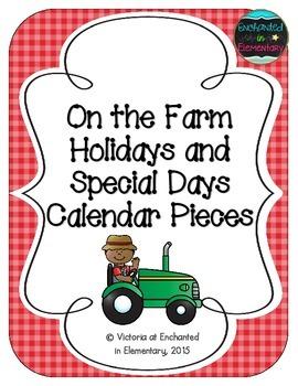 On the Farm Holiday Calendar Pieces
