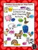 On the Farm - Interactive Self-Checking Activity BUNDLE