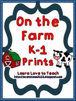 Farm K-1 Printables