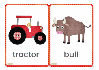 On the Farm Flashcards / Vocabulary cards / Picture Cards - LARGE