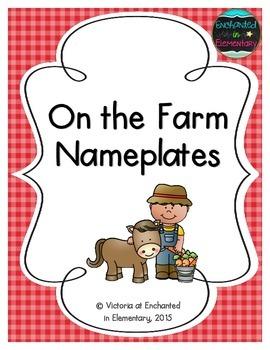 On the Farm Nameplates