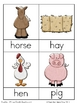 On the Farm Nomenclature 3-Part Vocabulary Cards